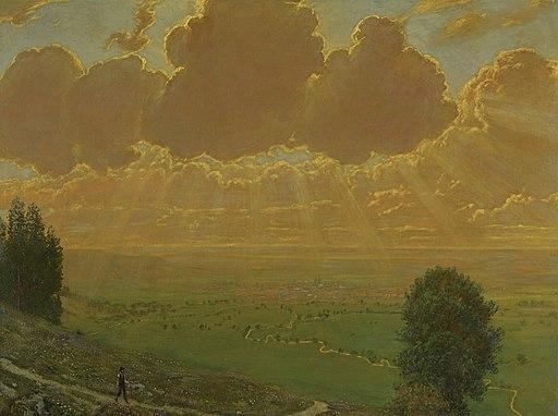 Hans Thoma - Hervorbrechende Sonne (1910)