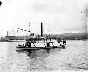 Steamboats of Grays Harbor and Chehalis and Hoquiam Rivers - Image: Harbor Belle (sternwheeler) ca 1902