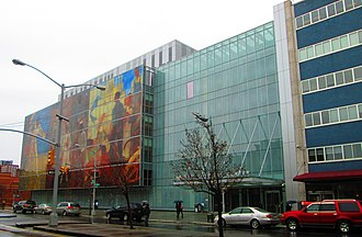 Harlem Hospital Center - The hospital's Lenox Avenue facade