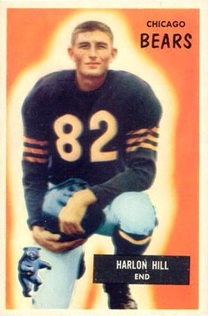 Harlon Hill - Hill on a 1955 Bowman football card
