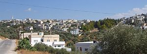Ajloun Governorate - Image: Hashimiyya 3 mosques view