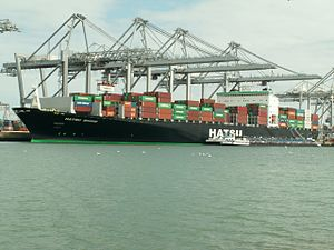 Hatsu Shine - IMO 9300386, at the Amazone harbour, Port of Rotterdam, Holland 17-Apr-2006.jpg