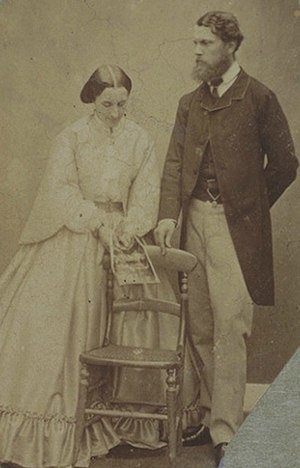 Donald Cameron, 24th Lochiel - Donald Cameron of Lochiel with Clementina Maude, Viscountess Hawarden, 1861.