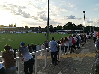 """Hayes Lane - Hayes Lane in 2018, view from """"Cricket Club Side"""""""