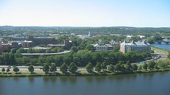 English: Harvard Business School, as seen from...