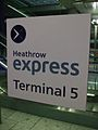 Heathrow Terminal 5 Express stn signage.JPG