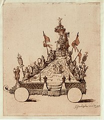 Float for the Antwerp Procession, for the Apotheosis of Antwerp (the Maagdenberg), 1718