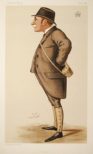 """Henry Howard, 18th Earl of Suffolk - """"Dover"""". Caricature by Lib published in Vanity Fair in 1887."""