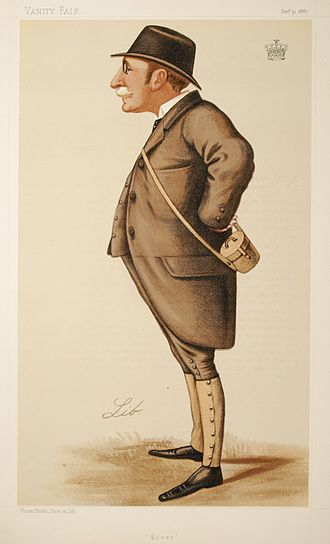 "Henry Howard, 18th Earl of Suffolk - ""Dover"". Caricature by Lib published in Vanity Fair in 1887."