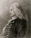 Portrait de Henry Fielding, d'après William Hogarth