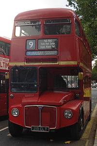 Heritage Routemaster RM1218 (218 CLT), route 9, 29 October 2013.jpg