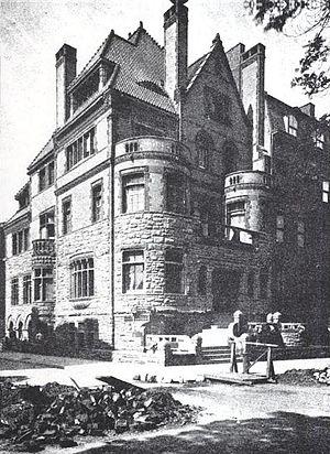 Herman Behr Mansion - The mansion shortly after completion, c.1889
