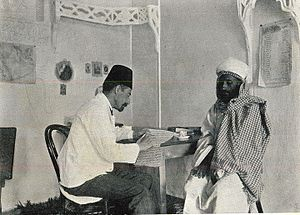 Hermann Burchardt - Hermann Burchardt (left) with his Yemeni secretary, Aḥmed Muḥammad el-Ǧarādī (ca. 1909)