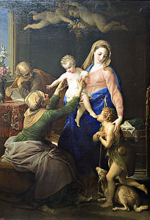 Holy Family with Sts Elizabeth and John the Baptist