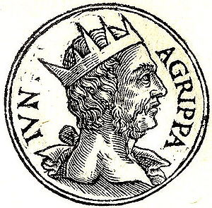 Herod Agrippa II - Agrippa II from Guillaume Rouillé's Promptuarii Iconum Insigniorum