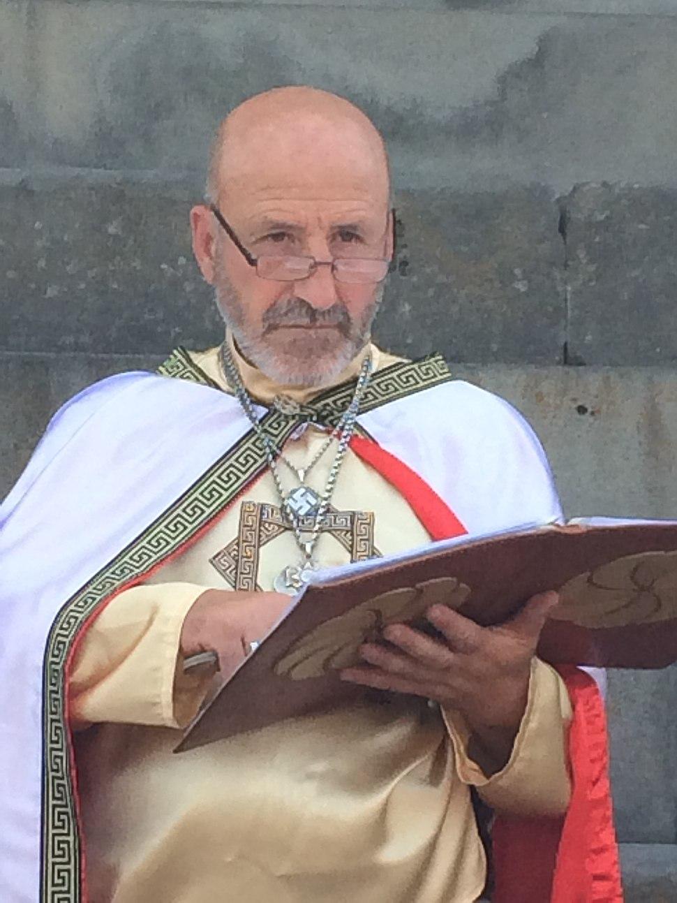 Hetan priest officiating at Garni Temple, Armenia 13