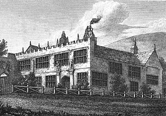 Wuthering Heights - High Sunderland Hall in 1818, shortly before Emily Brontë saw the building.