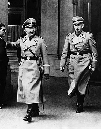 Schutzstaffel - Reinhard Heydrich (right) was Himmler's protégé and a leading SS figure until his assassination in 1942.