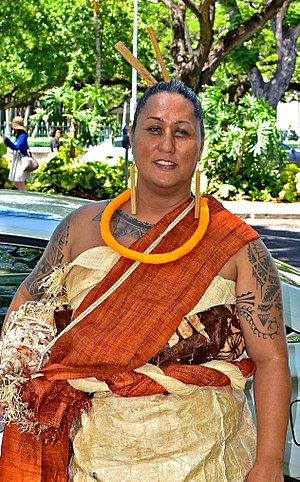 Hinaleimoana Wong-Kalu - Kumu Hula Hinaleimoana Kwai Kong Wong-Kalu at the 2016 Kamehameha Day Lei Draping