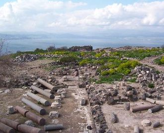 749 Galilee earthquake - Ruins of Hippos/Sussita