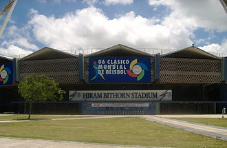 Baseball in Puerto Rico - Hiram Bithorn Stadium in San Juan. It was named after the first Puerto Rican to ever play in the major leagues, Hiram Bithorn
