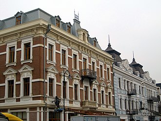 David Agmashenebeli Avenue - Image: Historic buildings in old Tbilisi, Georgia