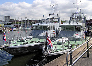 University Royal Naval Unit - University Royal Naval Unit training vessels ''Charger'' (left) and ''Trumpeter'' in Bristol in 2004