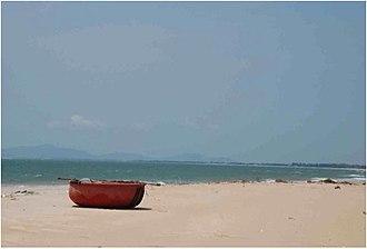 Hồ Tràm - Traditional Vietnamese Fishing Boat on Ho Tram Beach