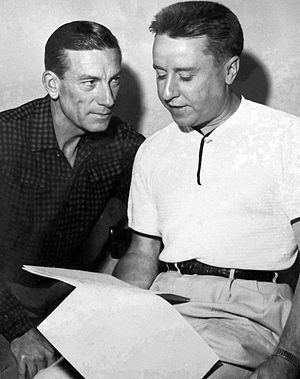 George Gobel - Hoagy Carmichael and George Gobel in 1954