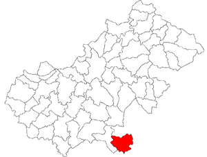 Hodod - Location of Hodod in Satu Mare County