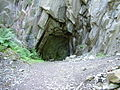 Hollow base exposed at foot of quayfoot Quarry - geograph.org.uk - 202780.jpg