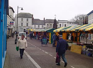 Holsworthy, Devon - View of the market