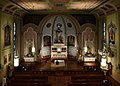 Holy Cross Catholic Church (Columbus, Ohio) - nave with Christmas decoration, view from the loft.jpg
