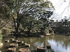 Horaijima Island in pond of Yusentei Park 4.jpg