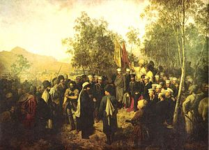 Imam Shamil - Capture of Shamil, by Theodor Horschelt