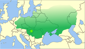The Hunnic Empire stretched from the steppes of Central Asia into modern Germany, and from the Black Sea to the Baltic Sea