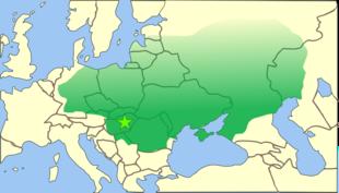 Massima espansione dell'impero unno, 451 circa