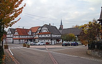 Hunspach - Main Street in Hunspach