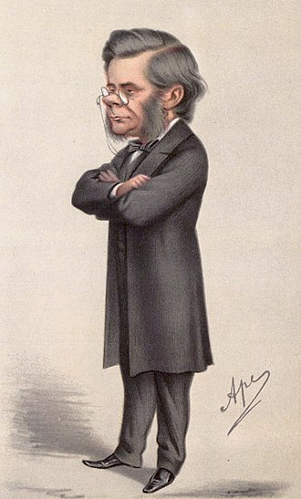 Oxford University Museum of Natural History - Caricature of Thomas Huxley from Vanity Fair magazine.
