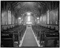 INTERIOR, LOOKING EAST FROM CENTER - St. Paul's Episcopal Church, 120 East J Street, Benicia, Solano County, CA HABS CAL,48-BENI,15A-3.tif