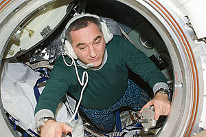 Aleksandr Skvortsov (cosmonaut) - Skvortsov inside the Soyuz TMA-18 making final preparations to undock from the ISS.
