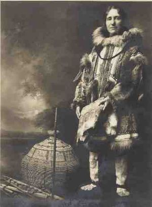 Isobel Wylie Hutchison - Isobel Hutchison in Arctic gear, circa 1927.