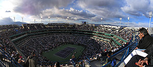 Indian Wells Tennis Garden - Stadium 1 during Roger Federer's evening match in 2008