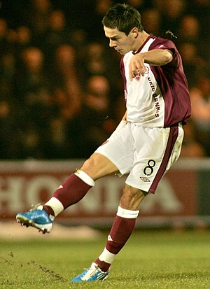Ian Black (footballer, born 1985) - Black playing for Heart of Midlothian in 2010