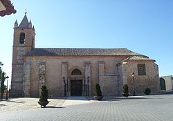 San Juan Bautista Church (16th century) in Villarta de San Juan.
