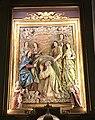Iglesia de San Ildefonso (Madrid) 05 main altar (cropped) - Gaspar Becerra (attributed) - Imposition of the Chasuble on Saint Ildephonsus.jpg