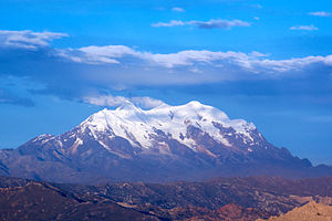 Illimani - Illimani Mountain, view from El Alto