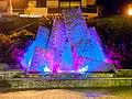 Illuminated fountain, Saint-Gervais-les-Bains (P1070957).jpg