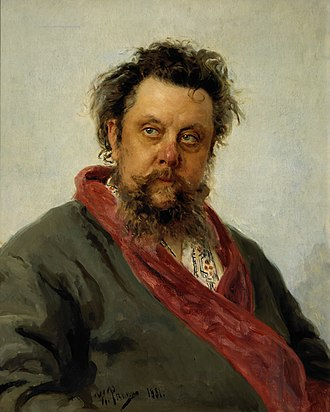 1881 in music - Ilya Repin's celebrated portrait of Mussorgsky, painted 2–5 March 1881, only a few days before the composer's death.