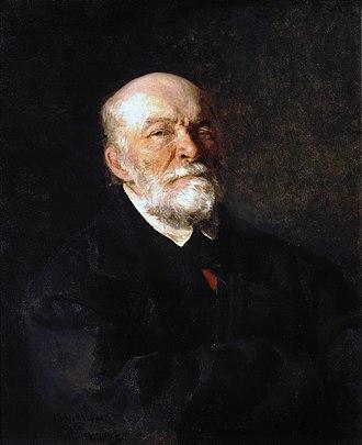 Nikolay Pirogov - Portrait of Nikolay Pirogov by Ilya Repin, 1881